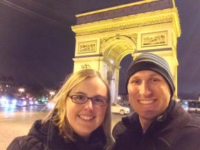 In front of the Arc de Triomphe!