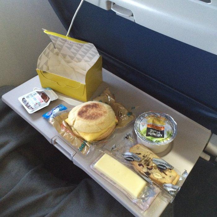 Breakfast on the flight