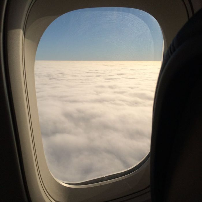 Clouds above Paris just before we landed