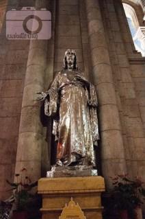 Silver statue of Jesus