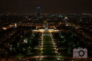 View of the Champ de Mars from the Eiffel Tower