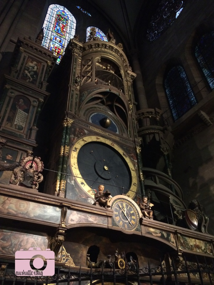 The astronomical clock at Notre Dame de Strasbourg