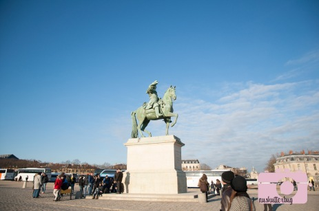 Statue at the base of the hill at Versailles