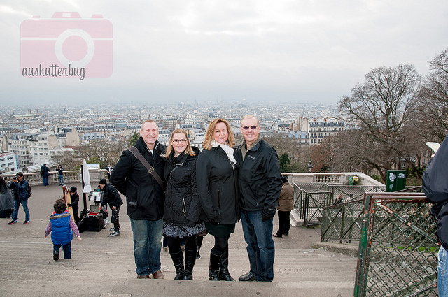 The day we went to Montmartre was one of the warmer days of our trip. Notice we all went for black coats. Very versatile and we all looked good in pictures together!
