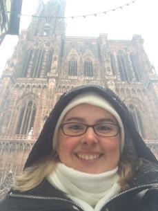 Yes, I know I look like a nun. Whatever, I was warm!