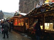 Christmas market near Notre Dame de Strasbourg