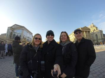 Selfie sticks aren't allowed inside Versailles, but we used it outside!